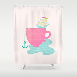 Cup of Sea Shower Curtain