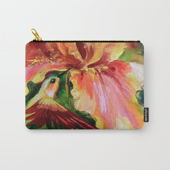 Hummingbird and lily Carry-All Pouch