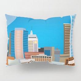 Oklahoma City, Oklahoma - Skyline Illustration by Loose Petals Pillow Sham