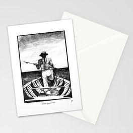 Māori Harpooner Stationery Cards