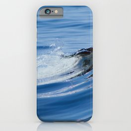 rippling blue iPhone Case