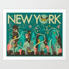 WILD NEW YORK Art Print