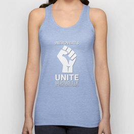 Introverts unite- Dark Unisex Tank Top