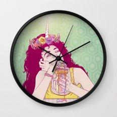Unicorn Freakshake Lady Wall Clock