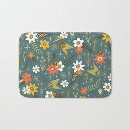 bright fun floral pattern Bath Mat