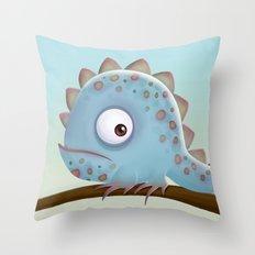 Cute Iguana Throw Pillow