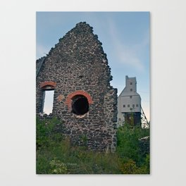 Quincy Hill Mine Shaft and Ruins Canvas Print