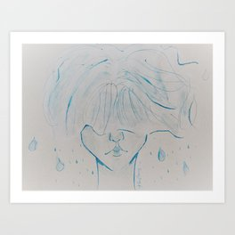 Clouded Art Print