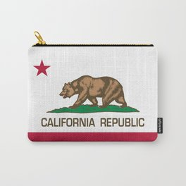 California Republic Flag - Bear Flag Carry-All Pouch
