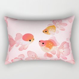 Cherry blossom goldfish Rectangular Pillow