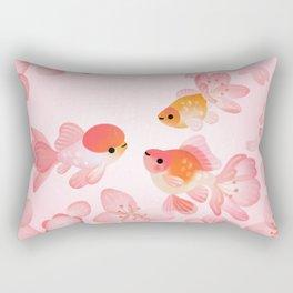 Cherry blossom goldfish Rectangular Pillow