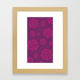 Plum Raspberry Roses Framed Art Print