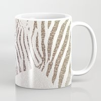 kafka Mugs featuring The Intellectual Zebra by Paula Belle Flores