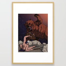 Savagery Framed Art Print