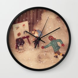 Snowstorm in Christmasland Wall Clock
