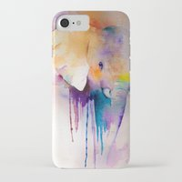 baby elephant iPhone & iPod Cases featuring baby elephant by Laura Ferro