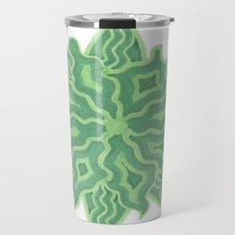 Emerald Flower Travel Mug