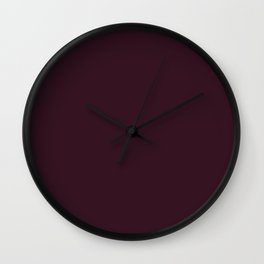 Dark Burgundy Solid Color Plain Wall Clock