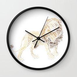 My Spirit Animal is a Lion Wall Clock