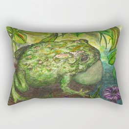 Rain Forest Toad Rectangular Pillow