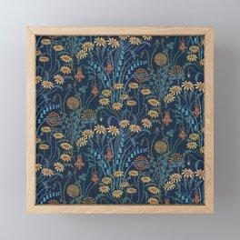 Dolce Donum Blue Floral by Walter Crane Framed Mini Art Print