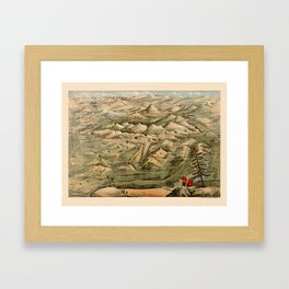 Map Of Afghanistan 1910 Framed Art Print