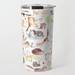 A cat mess Travel Mug