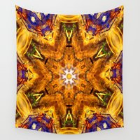 chakra Wall Tapestries featuring Chakra Mandala by riverme
