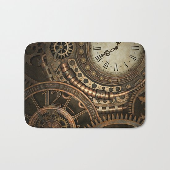 Steampunk Clockwork Bath Mat