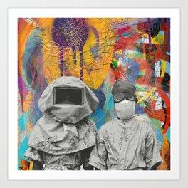 Radioactive Vintage Men Graffiti Urban Art by Emmanuel Signorino  Art Print