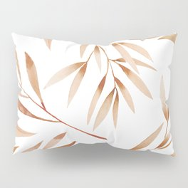 Watercolor Brown Branches Seamless Pattern Pillow Sham