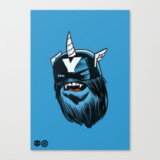 Yeticorn Comic Heroes series: Cap'n Aye!  Canvas Print