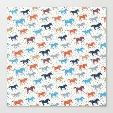 Horse Print Canvas Print