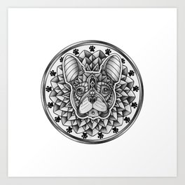 Ornate French Bulldog Art Print