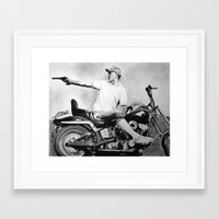 hunter s thompson Framed Art Prints featuring Hunter S. Thompson by Arthur Volper