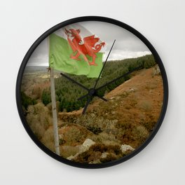 Top of the Hill Welsh Flag Wall Clock