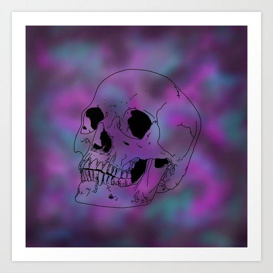 Nebula skull Art Print