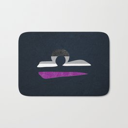 Asexual Pride Flag Libra Zodiac Sign Bath Mat