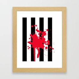 Black and White and Red All Over Framed Art Print