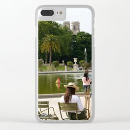 Luxembourg Gardens 15 Clear iPhone Case