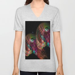 Two beings from other worlds Unisex V-Neck