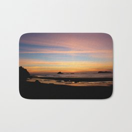 Pacific Northwest Sunset Bath Mat