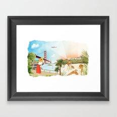 San Francisco + Los Angeles Framed Art Print