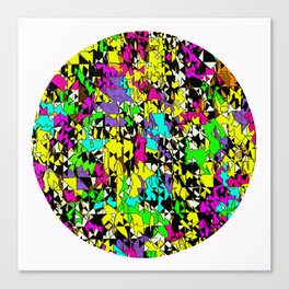 Colour Up Round Canvas Print