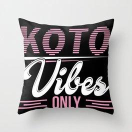 Koto sheet music musician music school Throw Pillow