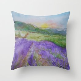 An Evening in Provence WC150601-12 Throw Pillow