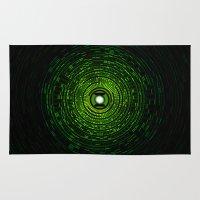 green lantern Area & Throw Rugs featuring Green Lantern by Electra