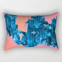 Velocious Blue Little Tree Rectangular Pillow