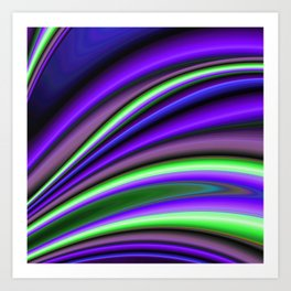Abstract Fractal Colorways 01PL Art Print