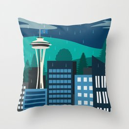 Seattle Fan Throw Pillow
